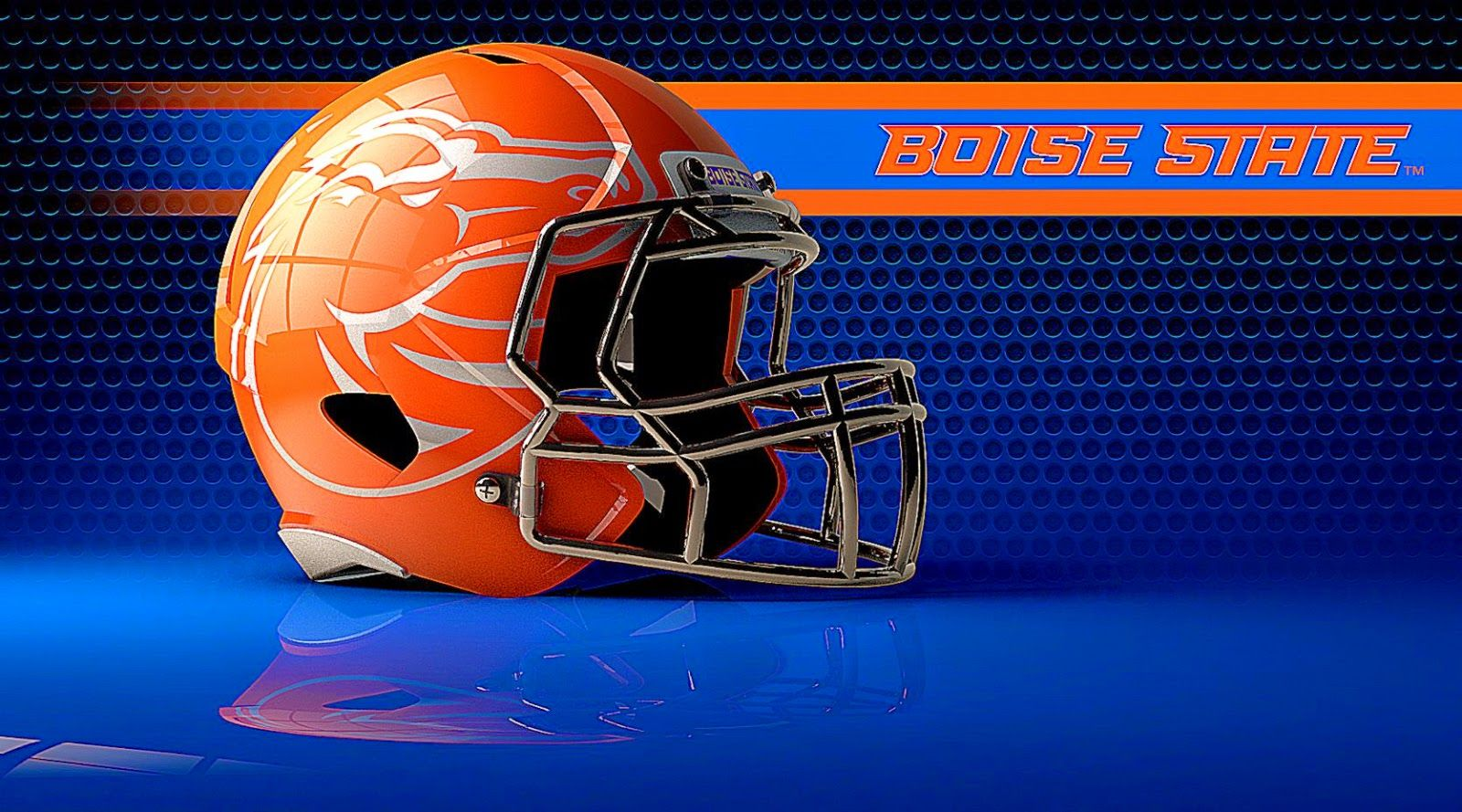 boise state wallpaper  Kellen Moore Autographed/signed Boise State Broncos Mini Helmet W ...