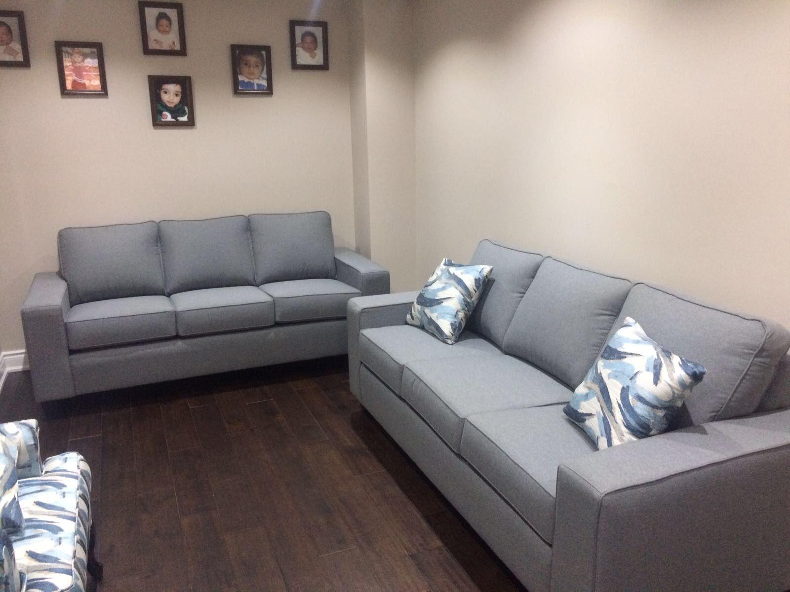 Grey Fabric Sofa Custom Home Decor Fabric Sofa