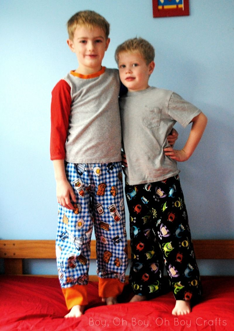 Free Boys Flannel Pajama Pants Pattern in size 5T - Boy, Oh Boy, Oh ...