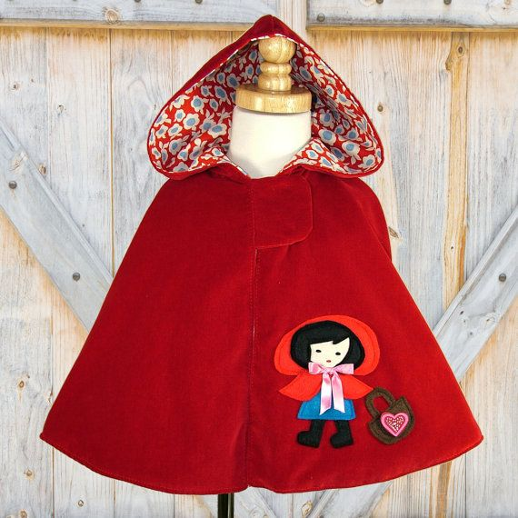 Girls Cape, PDF sewing pattern   Clothes sewing   Pinterest ...