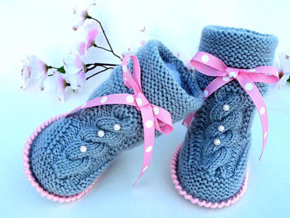 P A T T E R N bebé botines bebé niña zapatos patrón por Solnishko43 ...