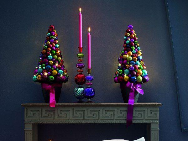 Künstlicher Weihnachtsbaum Selber Basteln U2013 Idee Mit Weihnachtskugeln