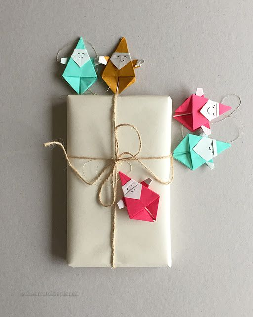 origami f r weihnachten samichlaus anh nger winter. Black Bedroom Furniture Sets. Home Design Ideas