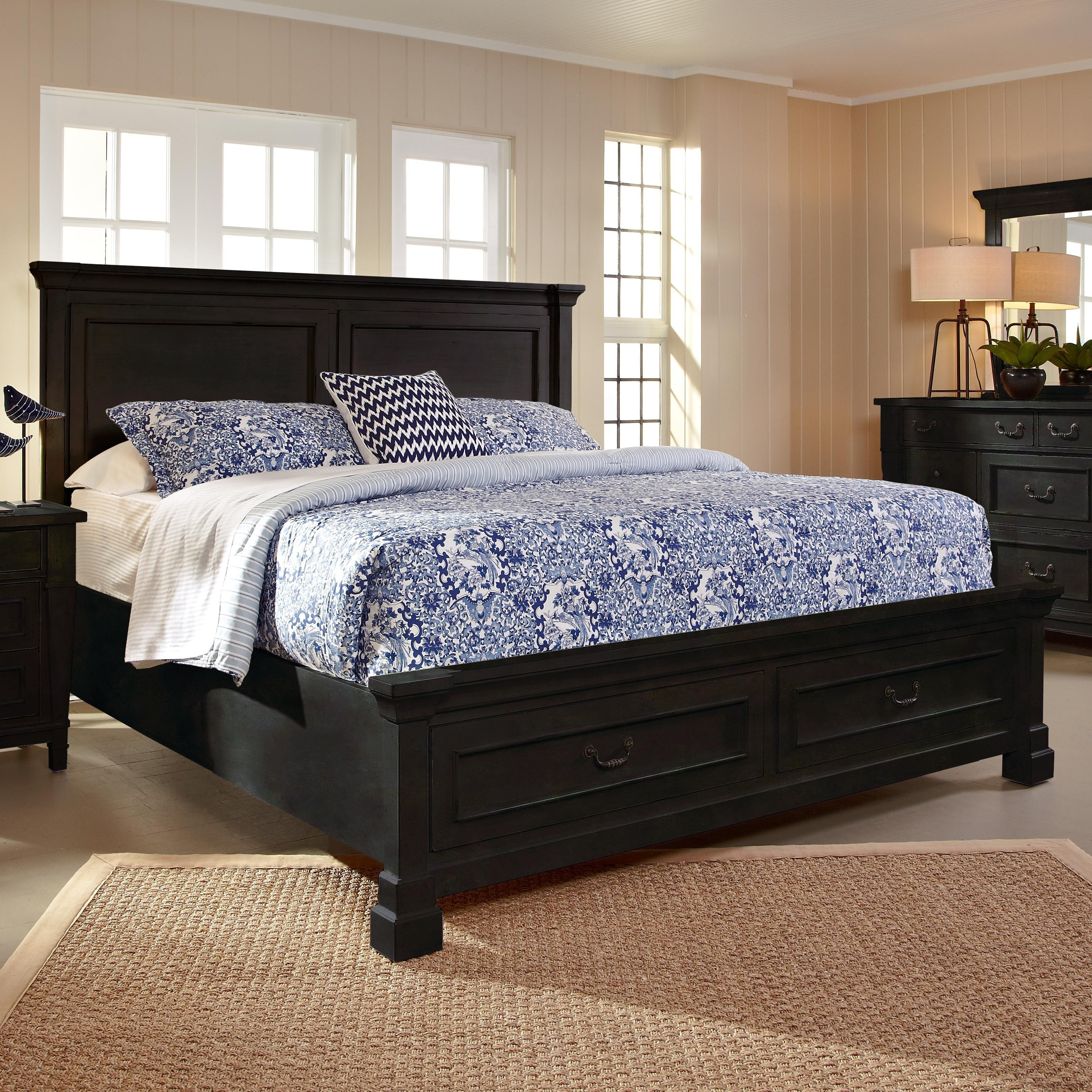 This Springdale Queen Panel Bed With Storage Is Fashionable And Functional!