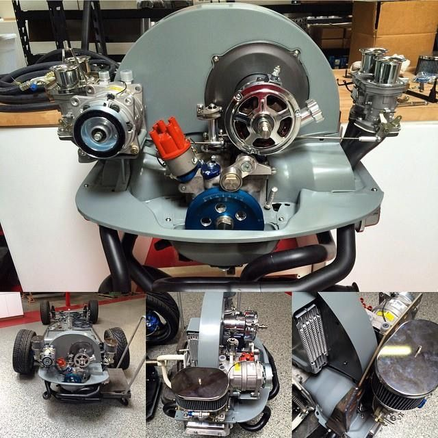 Ac Compressor Mounted With Dual Carbs Vw Engine Volkswagen Vw