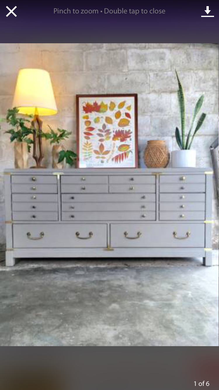 Lane Campaign dresser or Buffett painted with Anne Sloan