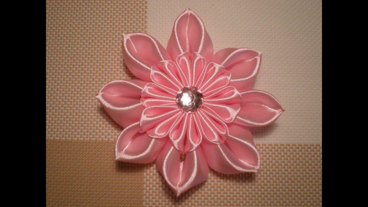 Поделки цветов из ленточек своими руками фото 309