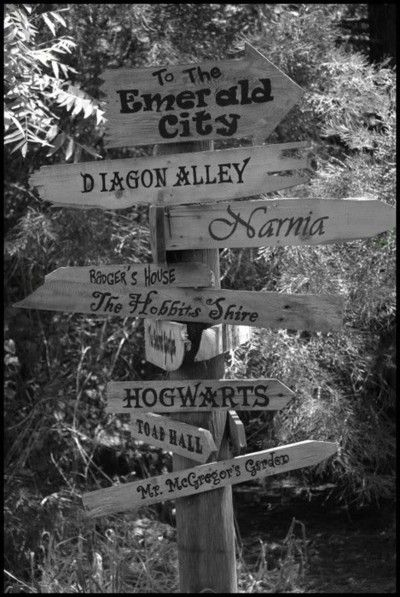 Fictional places that I wish were real.