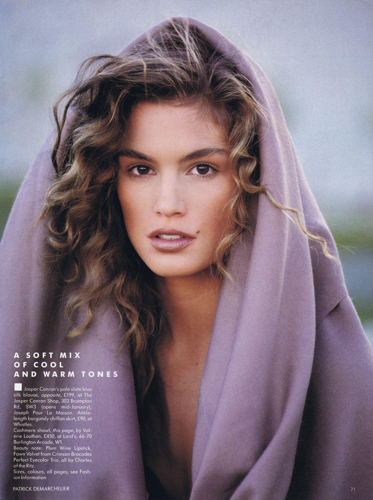Vogue UK January 1989 Cindy crawford, Supermodels, Model