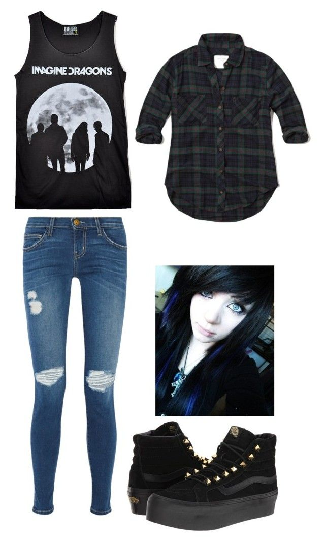 """""""Idk"""" by alex2003love ❤ liked on Polyvore featuring Abercrombie & Fitch, INDIE HAIR, Current/Elliott and Vans"""