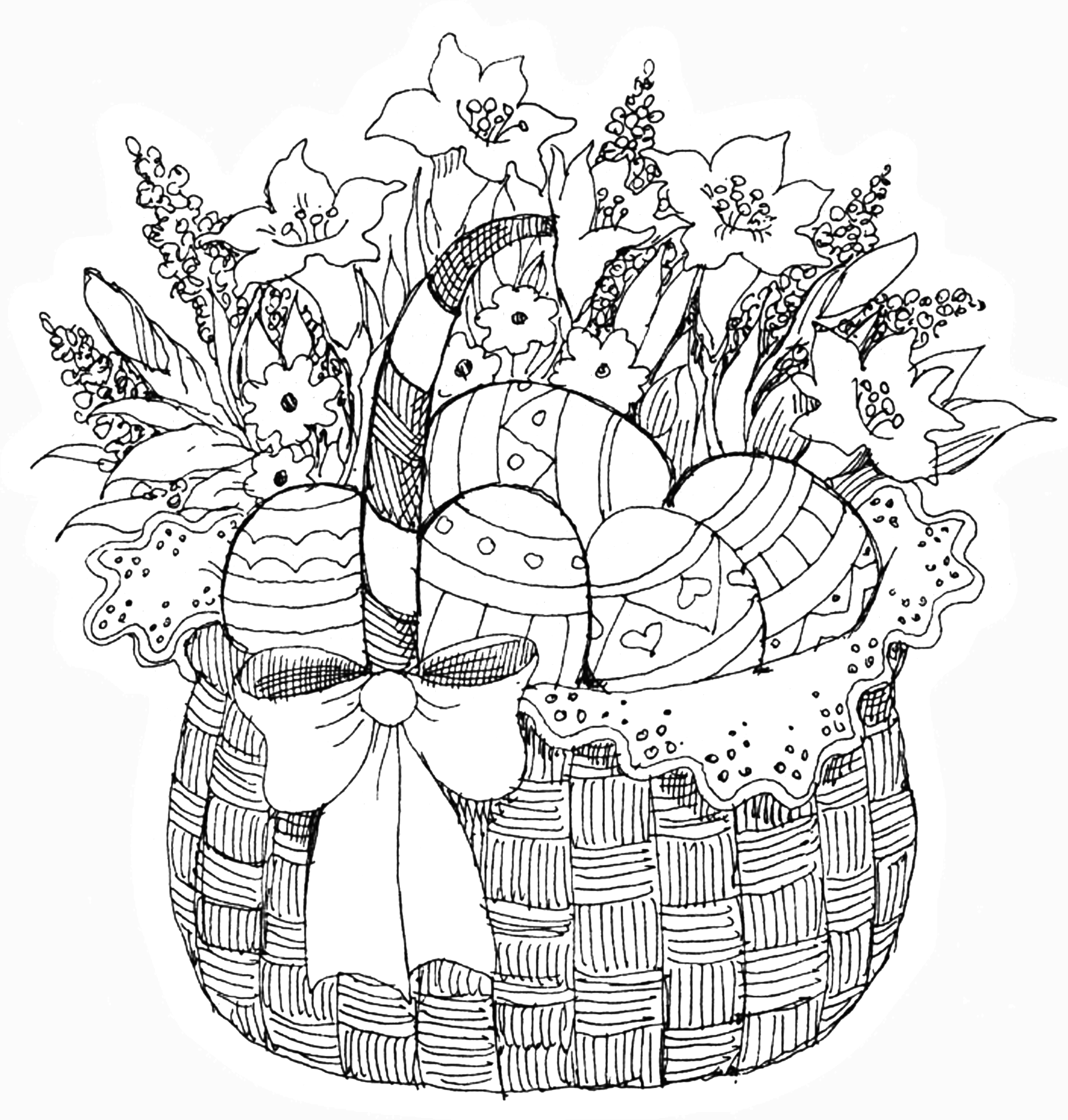 PB - Easter Basket | Color Pages | Easter coloring pages ...