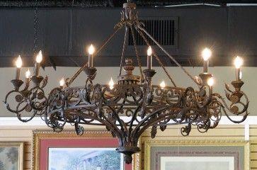 Huge Wrought Iron Chandelier Eclectic Chandeliers