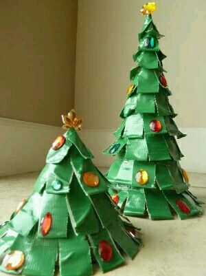 Paper Cup Christmas Trees Duck Tape Crafts Christmas Crafts For Kids Kids Christmas Crafts Easy
