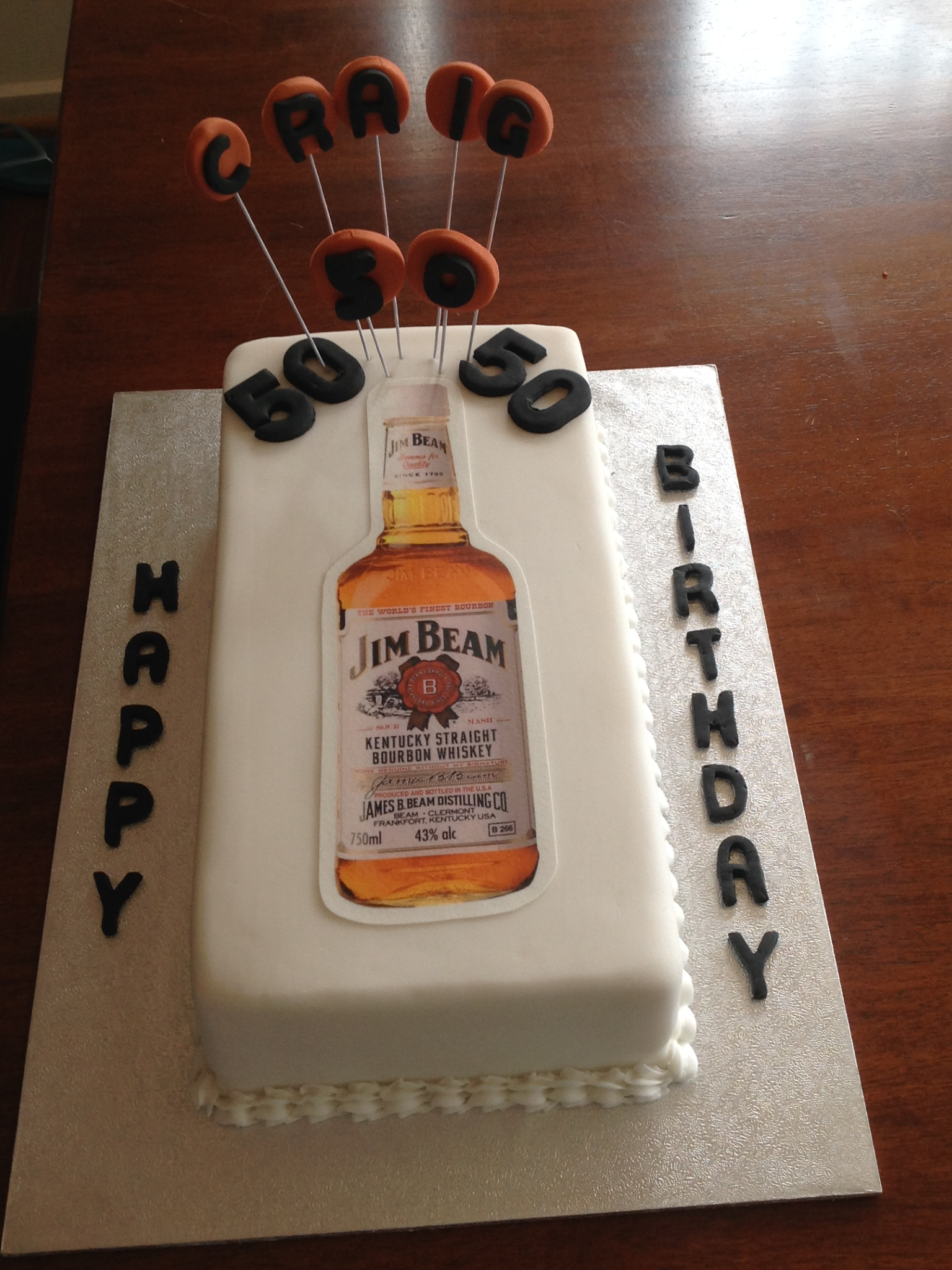 Jim Beam 50th Birthday Cake Camping In 2019 Camping