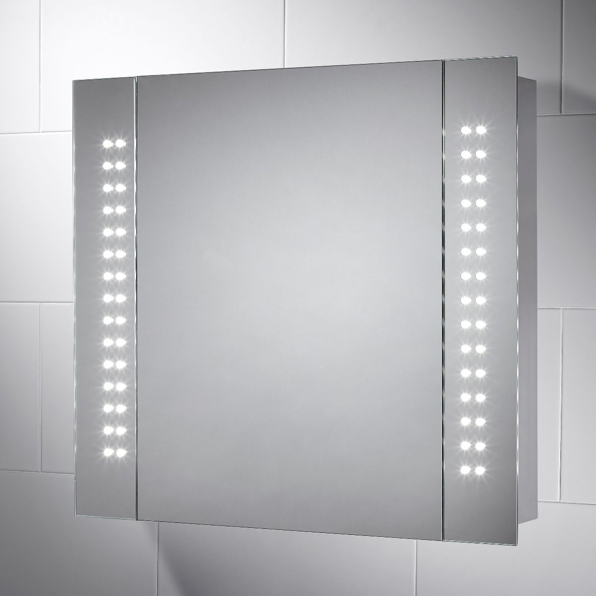 Kinsley LED Illuminated Battery Powered Bathroom Cabinet Mirror ...