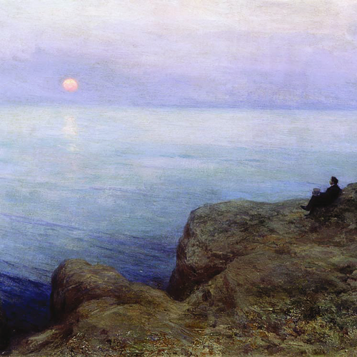 Aleksandr Pushkin at the Seashore (detail), Leonid Pasternak, 1896