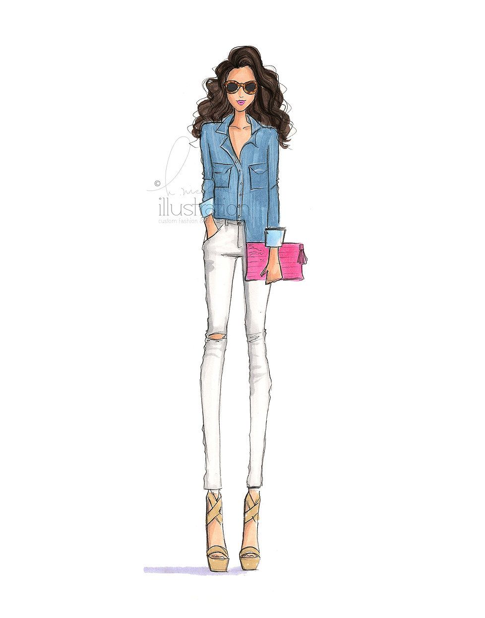H Nichols Illustration Fashion Sketches Dresses Illustration Fashion Design Fashion Illustration