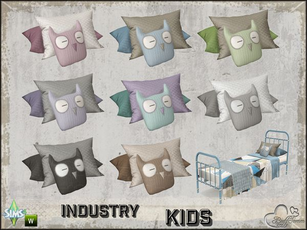 Buffsumms industry kids pillow owl for singlebed