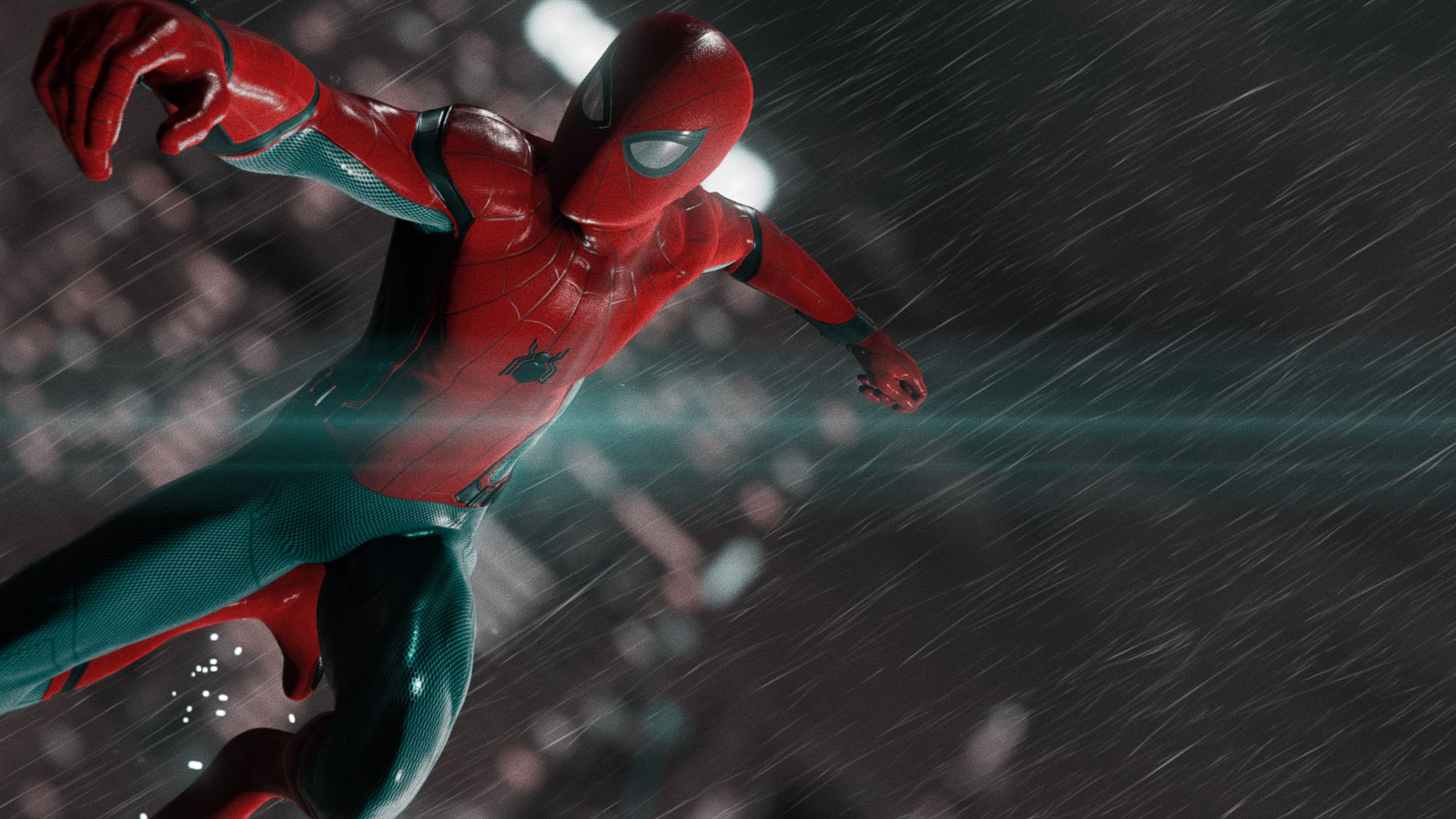 Wallpaper 4k Spiderman In The Rain 4k 4kwallpapers, hd