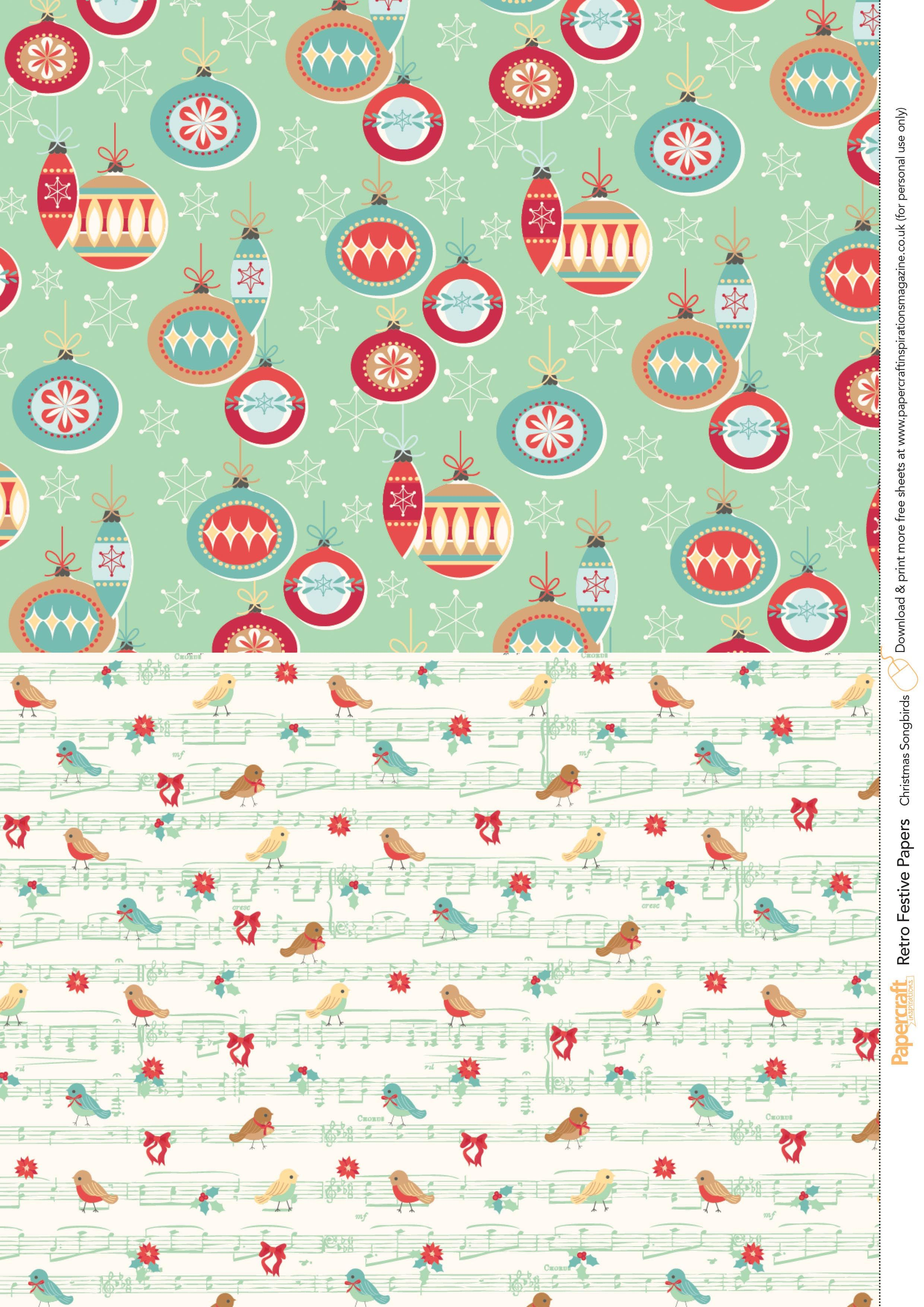 Nifty image with free printable christmas paper