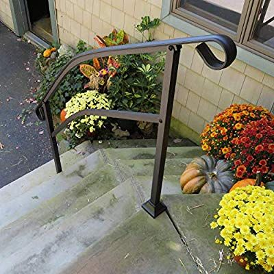 Best Instantrail 5 Step Adjustable Handrail Black Amazon 640 x 480