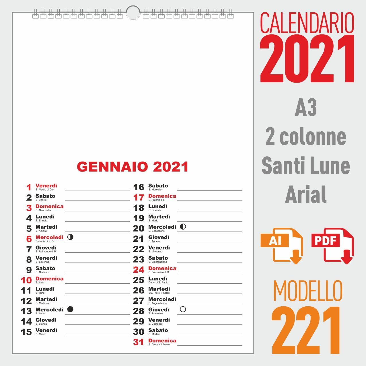 Calendario 2021 mensile nel 2020 | Calendario, Lunedi, Mercoledì