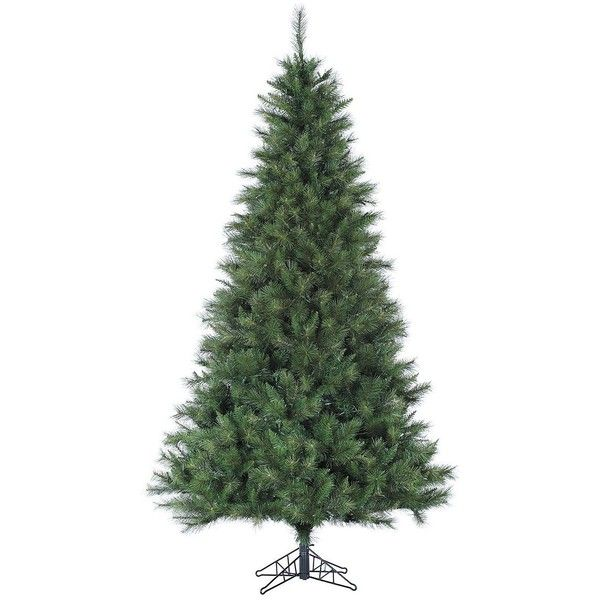 Fraser Hill Farms Canyon Pine Artificial Christmas Tree - 12Ft. ($779) ❤ liked on Polyvore featuring home, home decor, holiday decorations, green, traditional home decor, holiday decor and holiday home decor