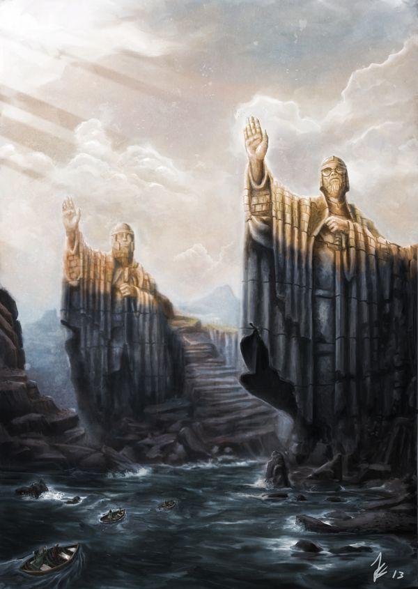 The Argonath by Joel Salinas