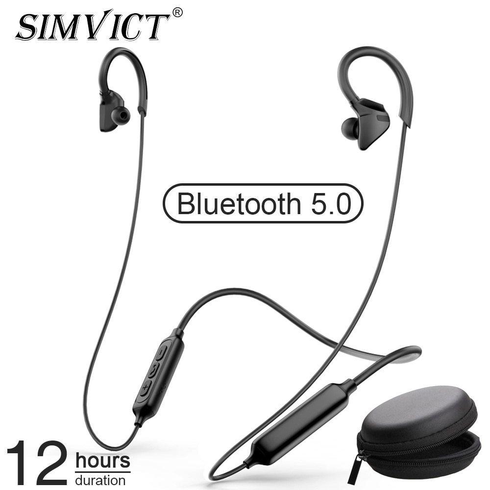 Simvict Ear Hook Bluetooth Earphone Wireless Headphones Gaming Headset Sport Earbuds With Mic For Iphone Samsung Handsfree In 2020 Wireless Earphones Sport Earbuds Wireless Headphones