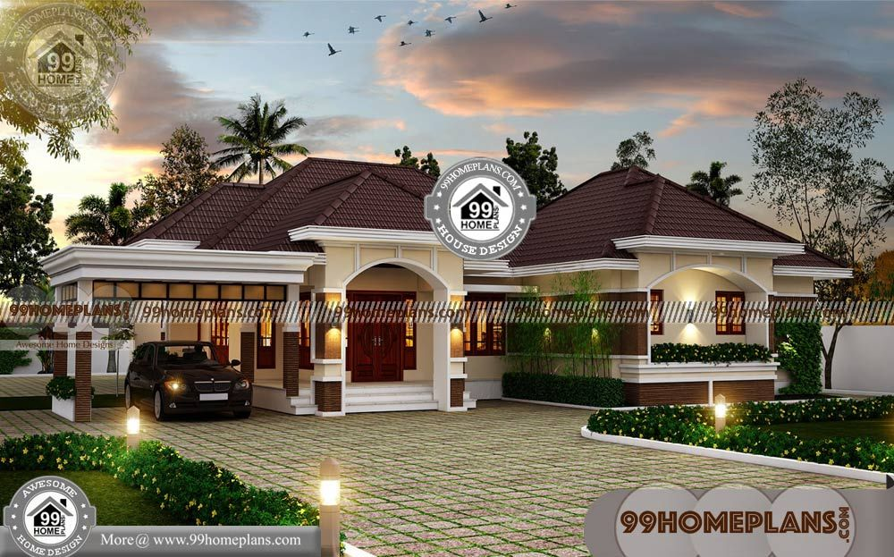 Small Modern House Plans One Floor With Low Budget Kerala Style
