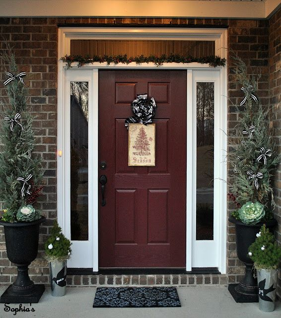 Red Front Door: Door Color For A Brick Home. I Like This Better Than The