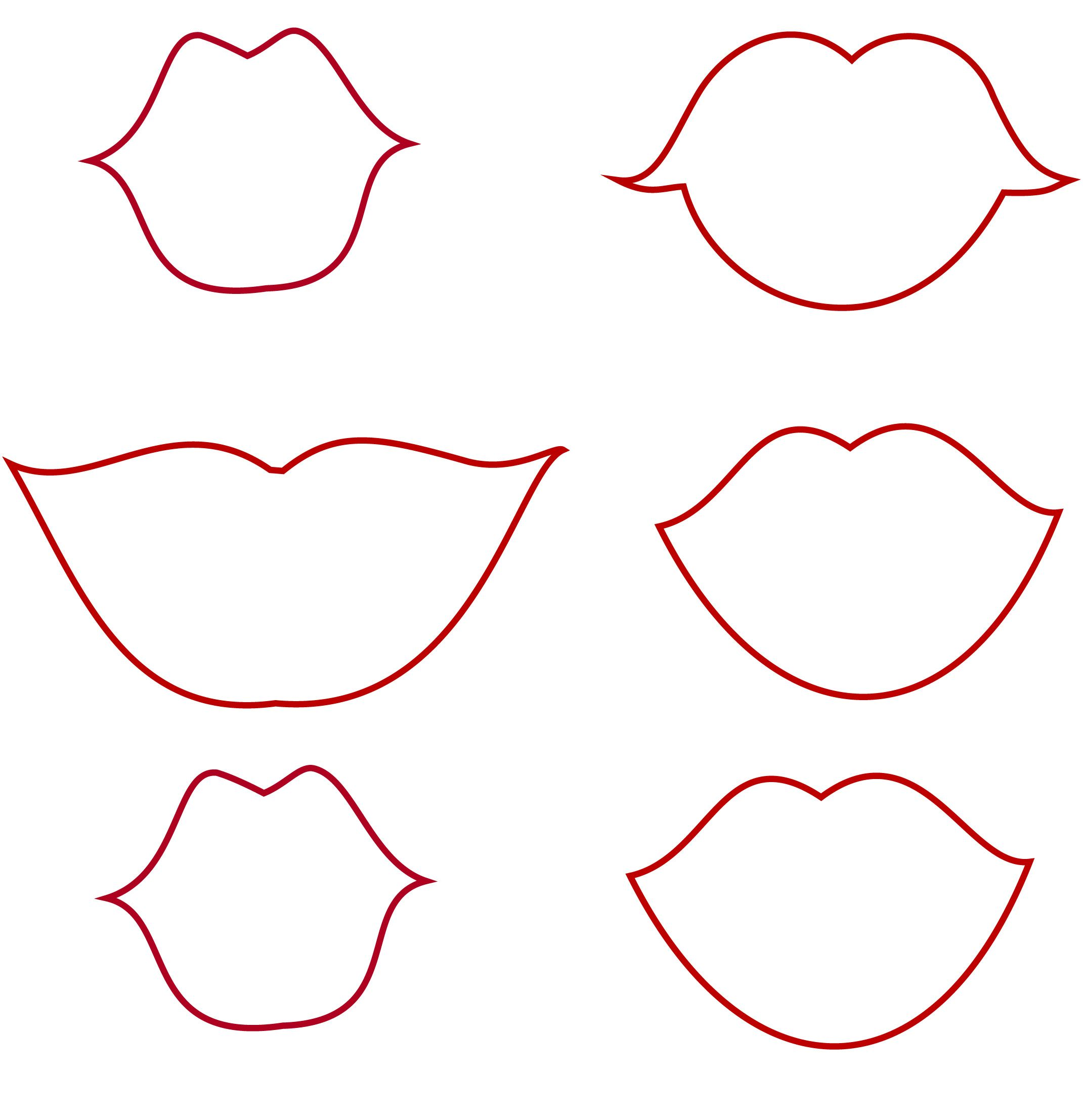 Lips and Mustaches Templates (along with some others) for possible
