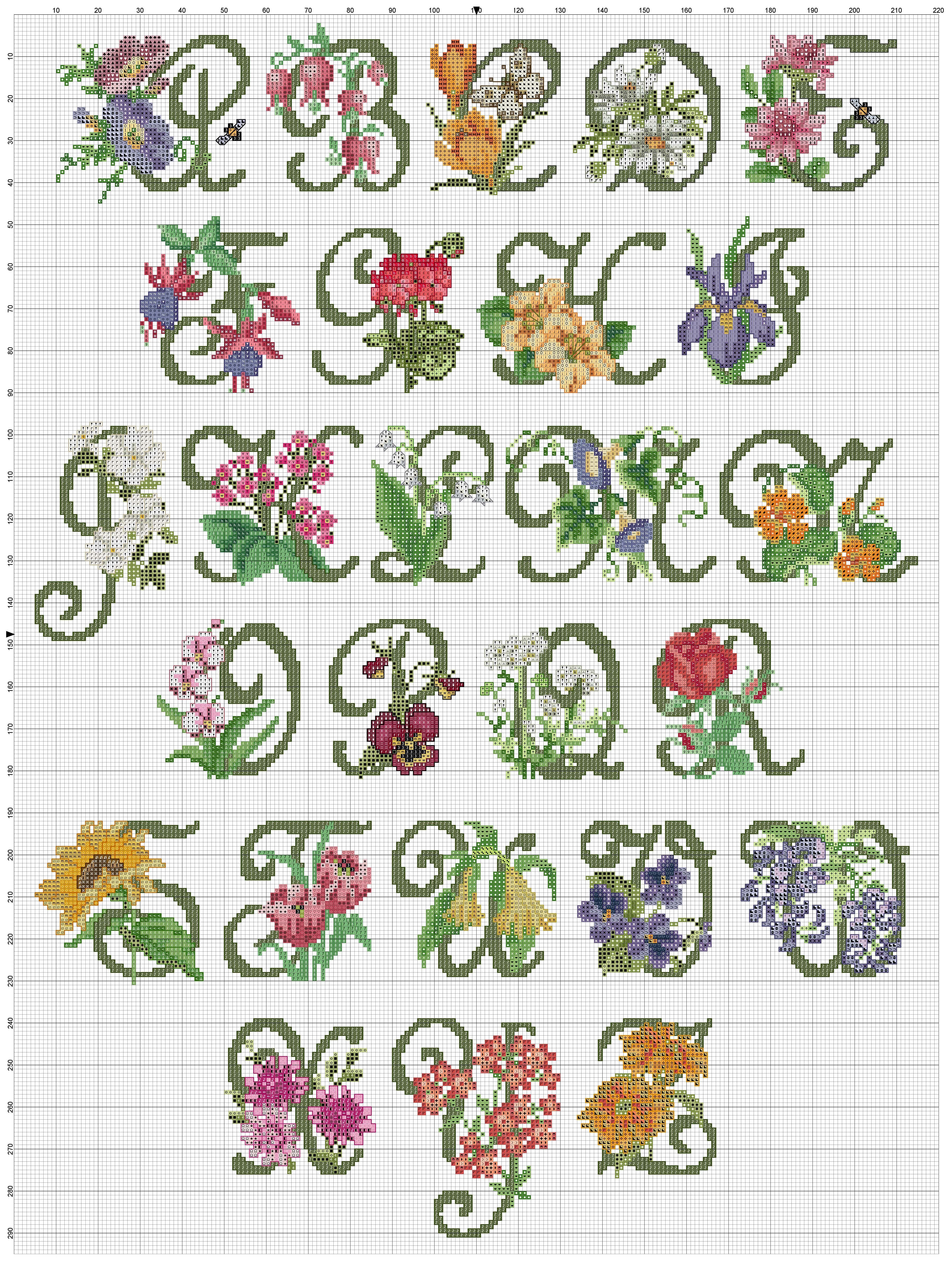 Cross stitch / Point de croix / Punto cruz / Punto croce Garden ...