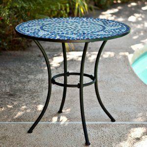 Belham Living Capri Wrought Iron Bar Height Bistro Table ... on Belham Living Capri Wrought Iron Outdoor Bistro Set By Woodard id=23931