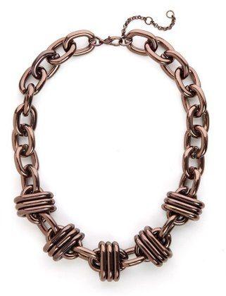 Love the chunky bronze chain
