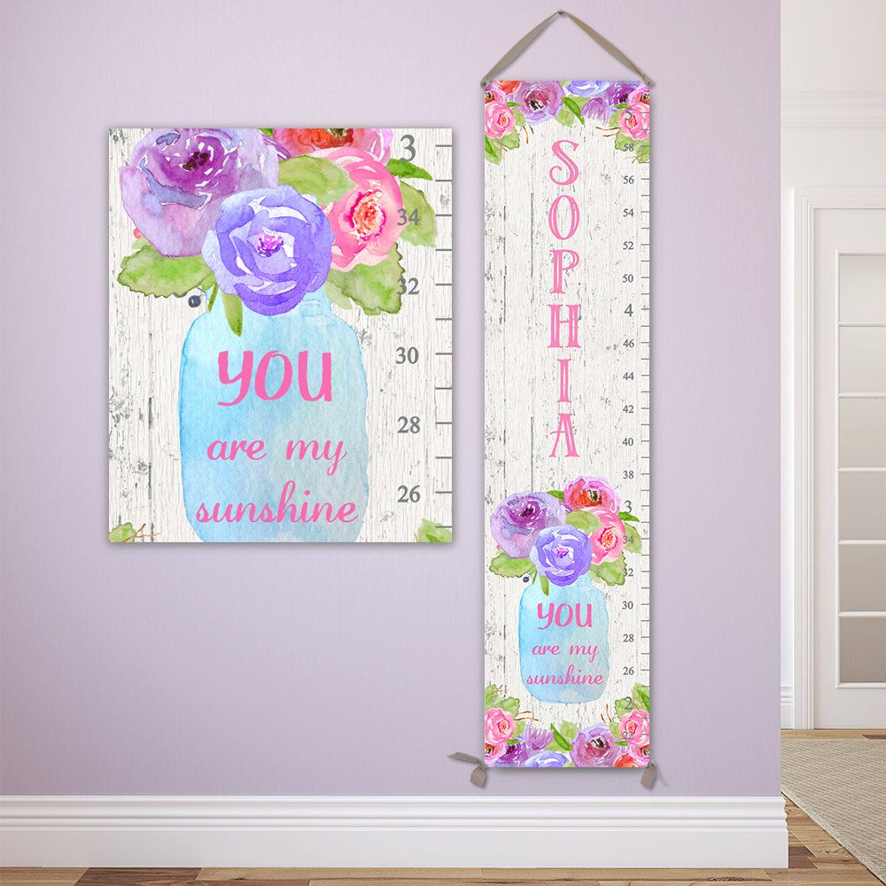 You are my sunshine growth chart mason jar growth chart canvas you are my sunshine growth chart mason jar growth chart canvas wood growth chart nvjuhfo Image collections