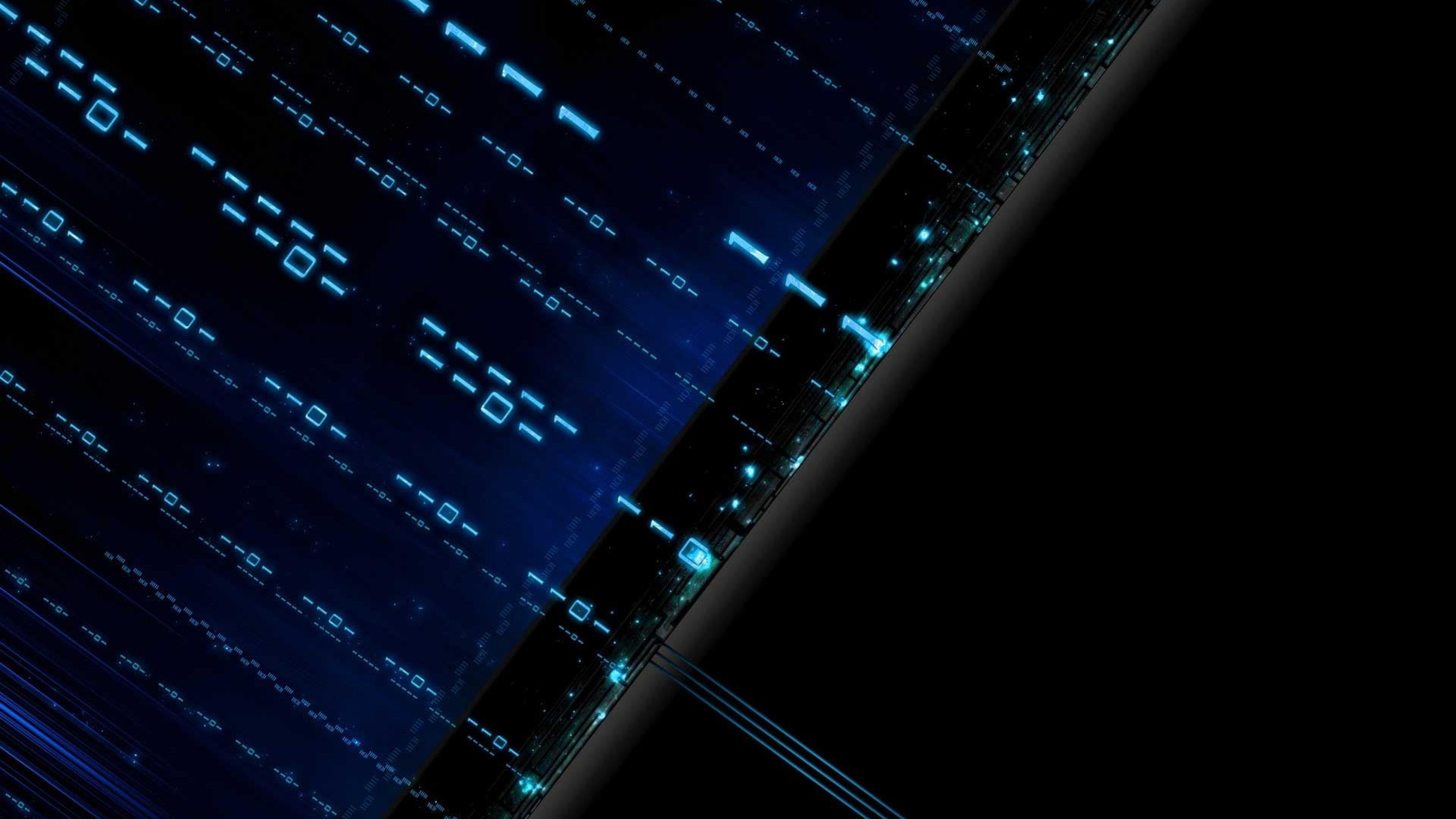 Blue Matrix Wallpaper Hd Resolution Is 4k Wallpaper In 2020 Technology Wallpaper Black And Blue Wallpaper Hi Tech Wallpaper