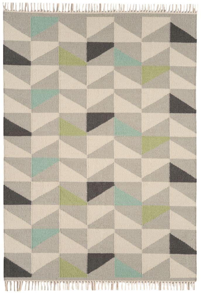 Teppich Wohnzimmer Carpet modern Design HACKNEY KELIM DREIECK RUG - teppich wohnzimmer beige