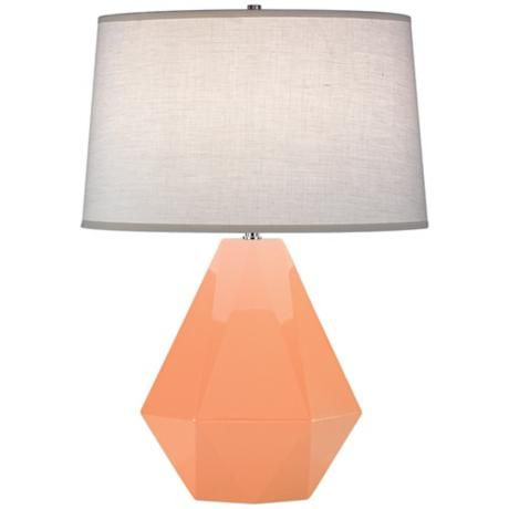 The stunning Robert Abbey Delta lamp in Petal (such a pretty peachy shade!) was featured @Rue Magazine, February 2012. http://www.ruemag.com/february-2012/