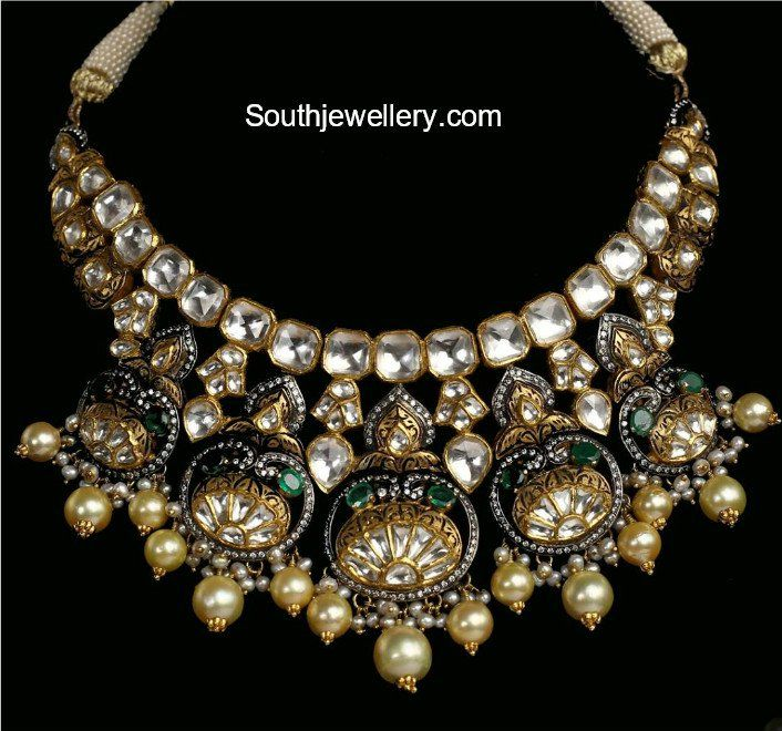 Antique Gold Polki Necklace photo | 18k gold jewelry, Gold ...