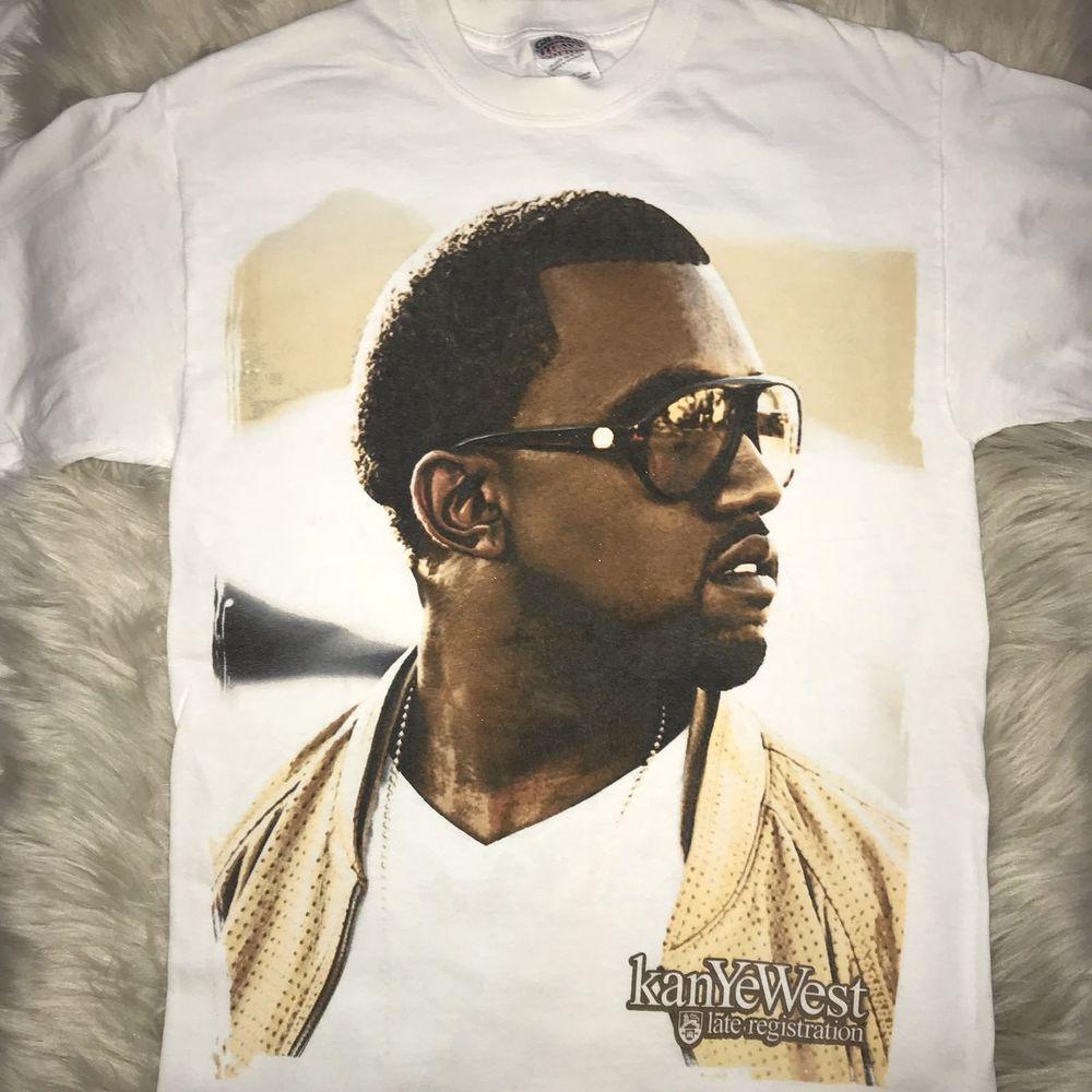 Kanye West College Dropout Late Registration 2006 Rare T Shirt M Yeezy Rap Ebay Kanye West Kanye Yeezy
