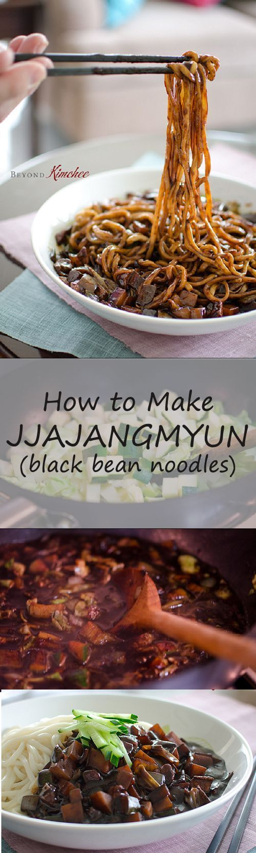 How to make jjajangmyun black bean noodles noodle korean and beans how to make jjajangmyun black bean noodles korean food recipesyummy forumfinder Choice Image