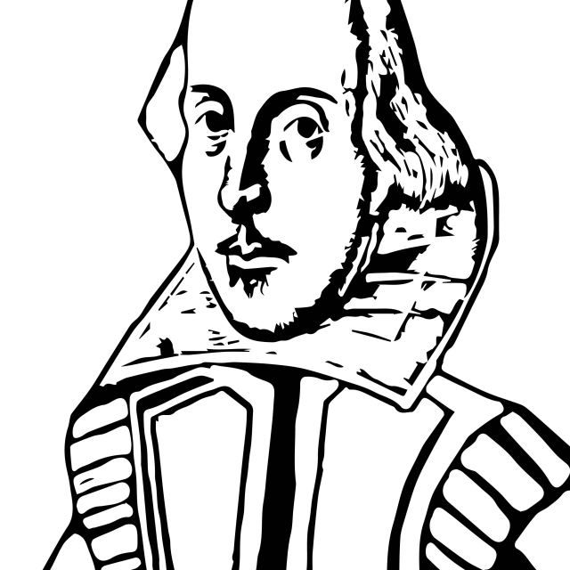 coloring pages william shakespeare