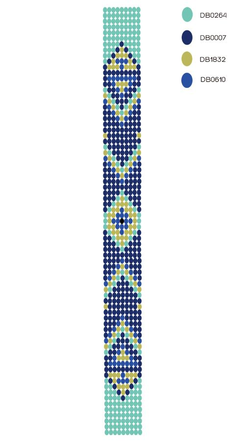 Diy Bracelet Tisse Motif Navaro Modeles De Bracelets En Perles Perles Diy Motifs Tissage De Perles