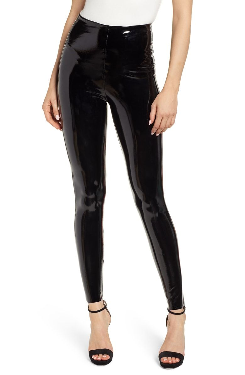 6570a9c7ddc32 Free shipping and returns on Commando Control Top Faux Patent Leather  Leggings at Nordstrom.com