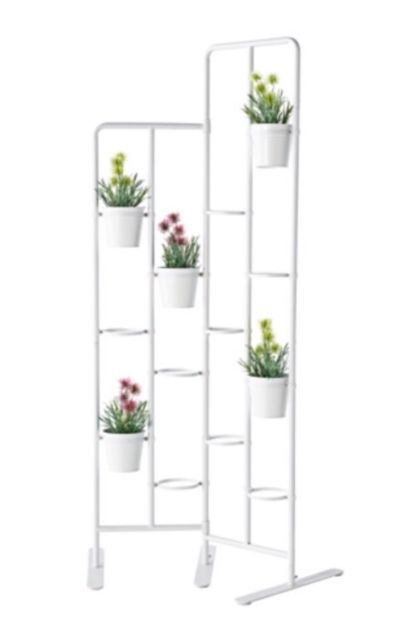 Ikea Socker Plant Flower Pot Stand Room Divider Herbs Kitchen Porch Gray New