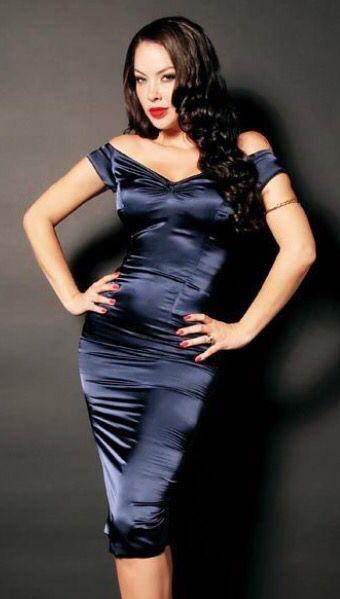 6eef6800 Perfect little black satin wiggle dress. | Satin in 2019 | Dresses ...