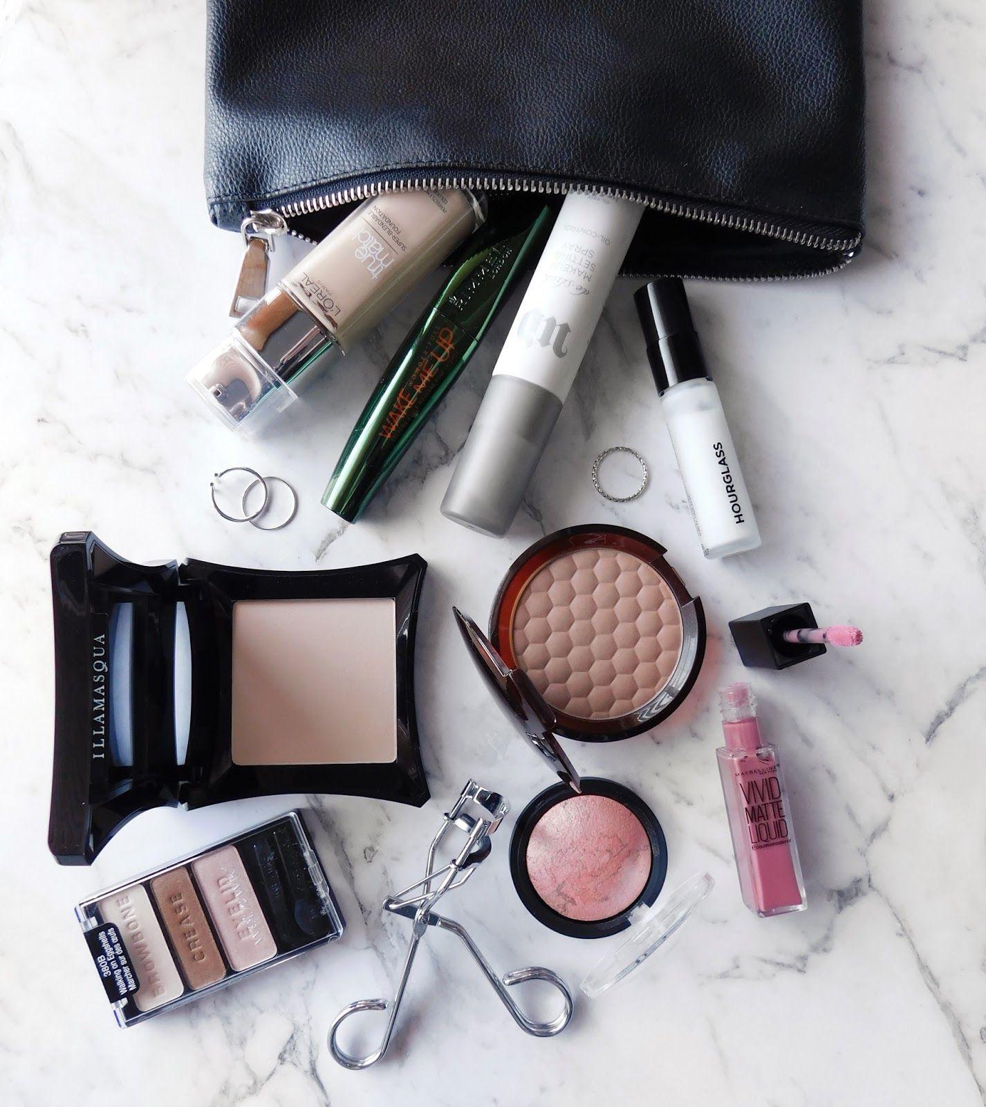 Travel Makeup Bag Essentials Makeup bag essentials