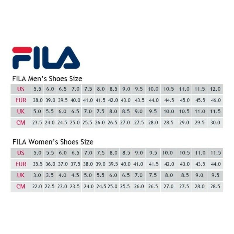 Fila Mens Shoes Size Chart Cm In 2020 Fila Mens Shoes Nike Shoes Size Chart Shoe Size Chart