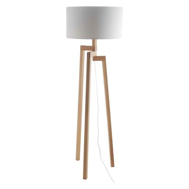 DYLAN BASE Ash Wooden Floor Lamp